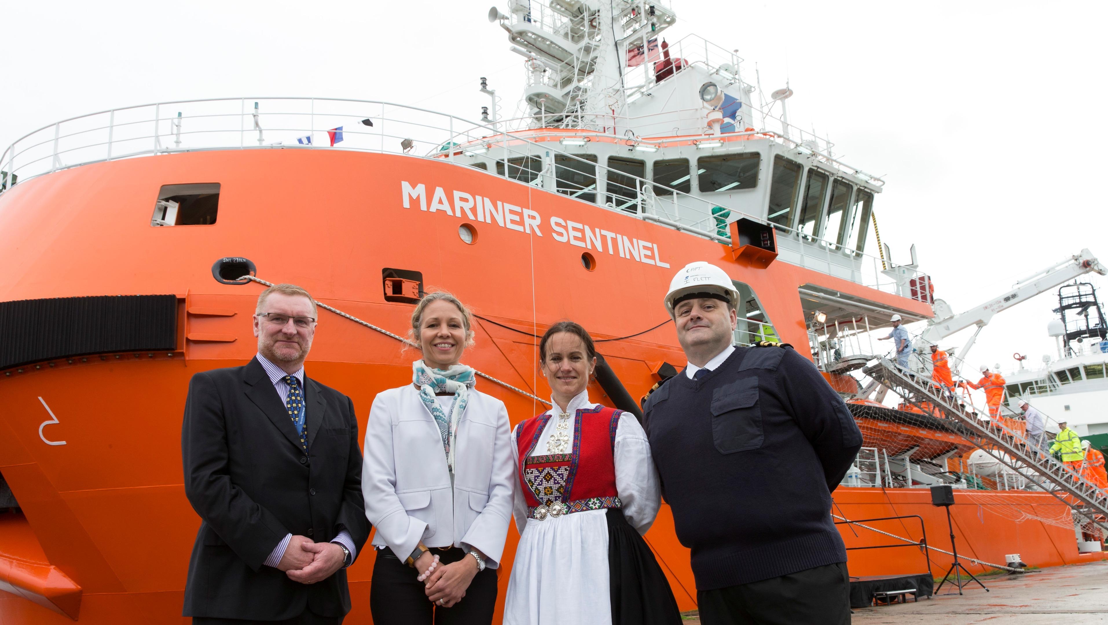 Mariner Sentinal -  ship christening is being held at Regents Quay   (Photo: Ross Johnston/Newsline Media)
