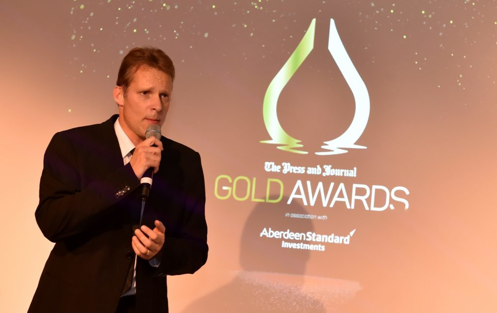 Press & Journal's Gold Awards 2017, at the Marcliffe Hotel. Picture of entertainment - Richard Knight.  Picture by KENNY ELRICK     08/09/2017