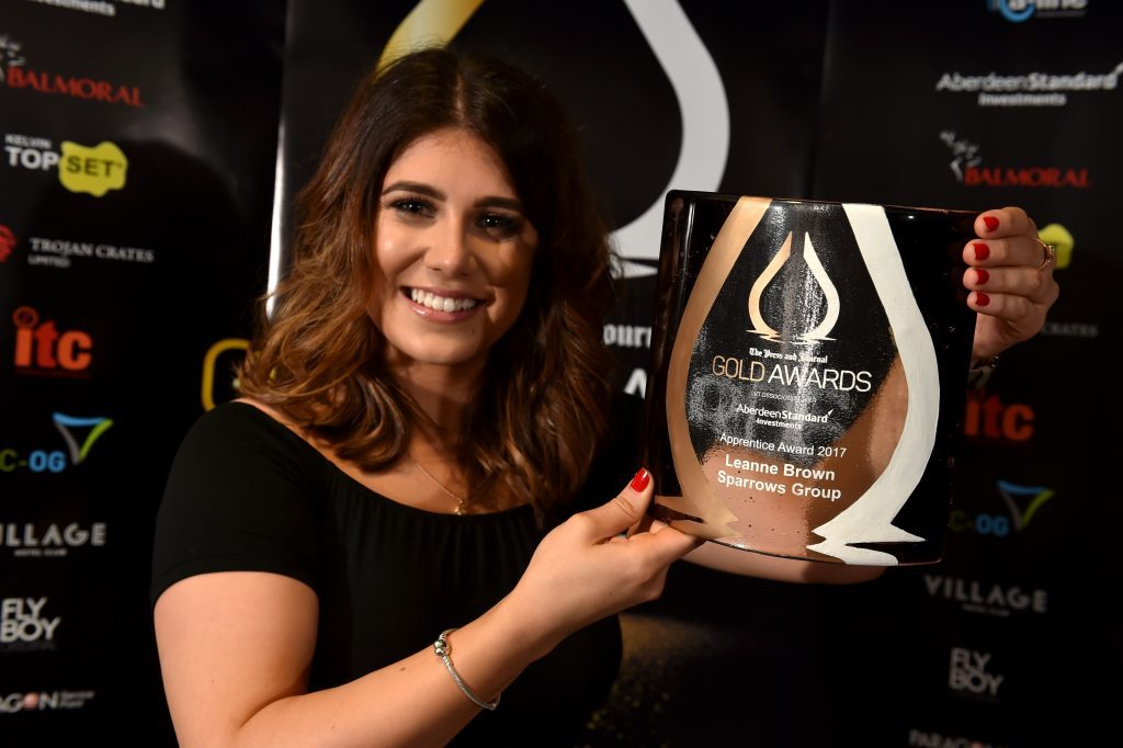 Picture of Apprentice Award - Leanne Brown.  Picture by KENNY ELRICK     08/09/2017