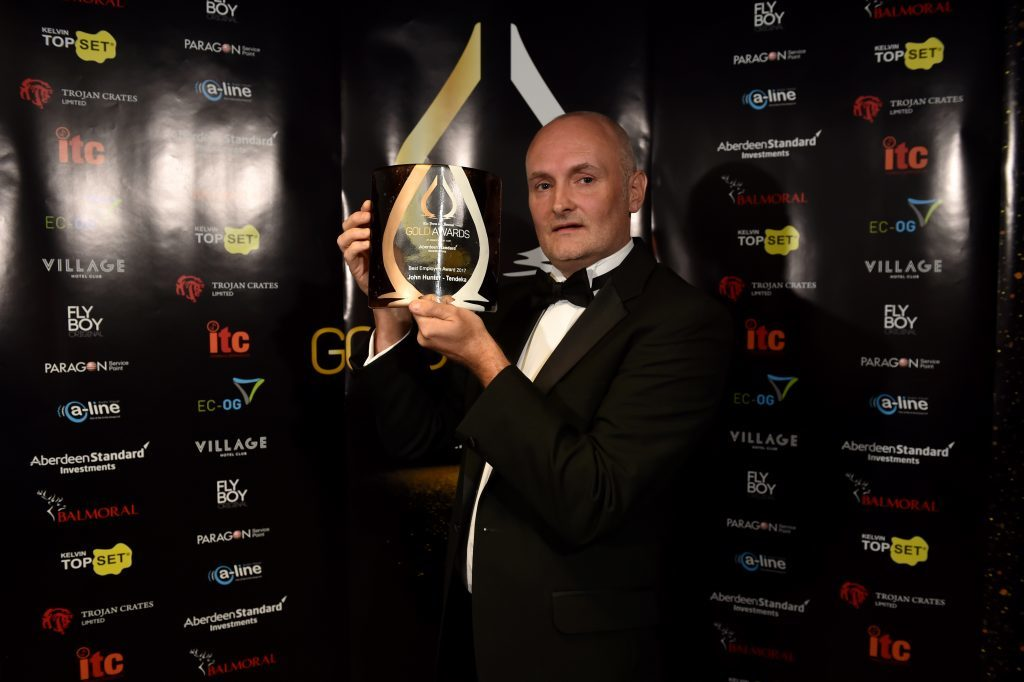 Press & Journal's Gold Awards 2017, at the Marcliffe Hotel.  Picture of Best Employee Award - John Hunter.  Picture by KENNY ELRICK     08/09/2017
