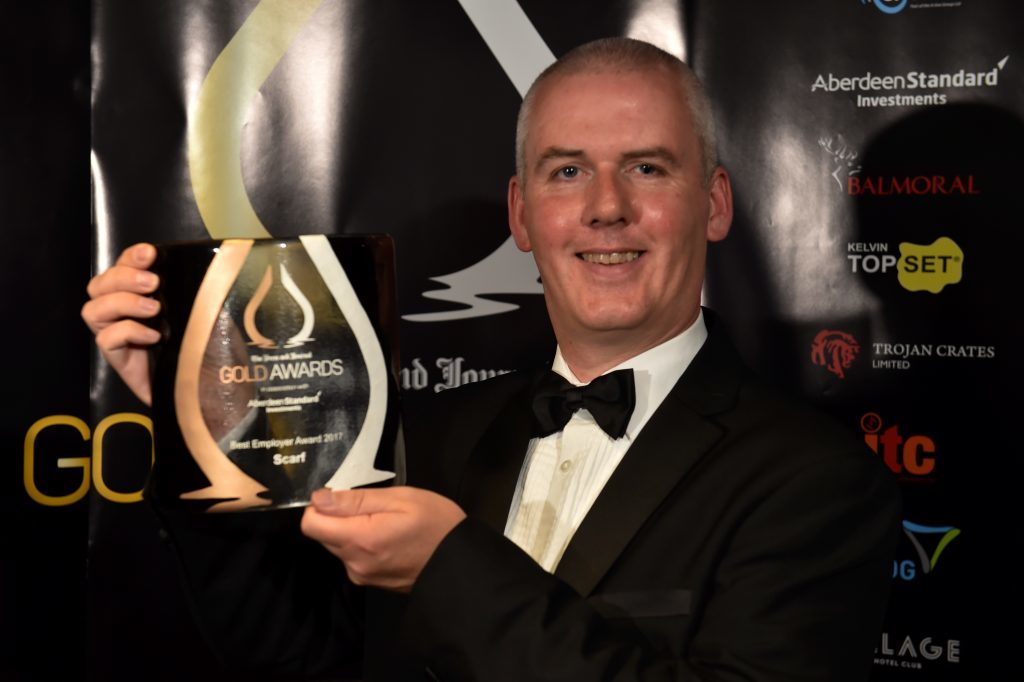 Press & Journal's Gold Awards 2017, at the Marcliffe Hotel.  Picture of Best Employer Award - Thane Lawrie.  Picture by KENNY ELRICK     08/09/2017