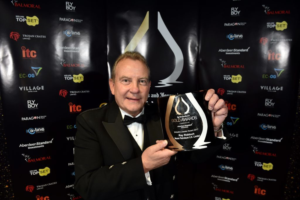 Press & Journal's Gold Awards 2017, at the Marcliffe Hotel.  Picture of Industry Leader Award - Ray Ruddoch.  Picture by KENNY ELRICK     08/09/2017