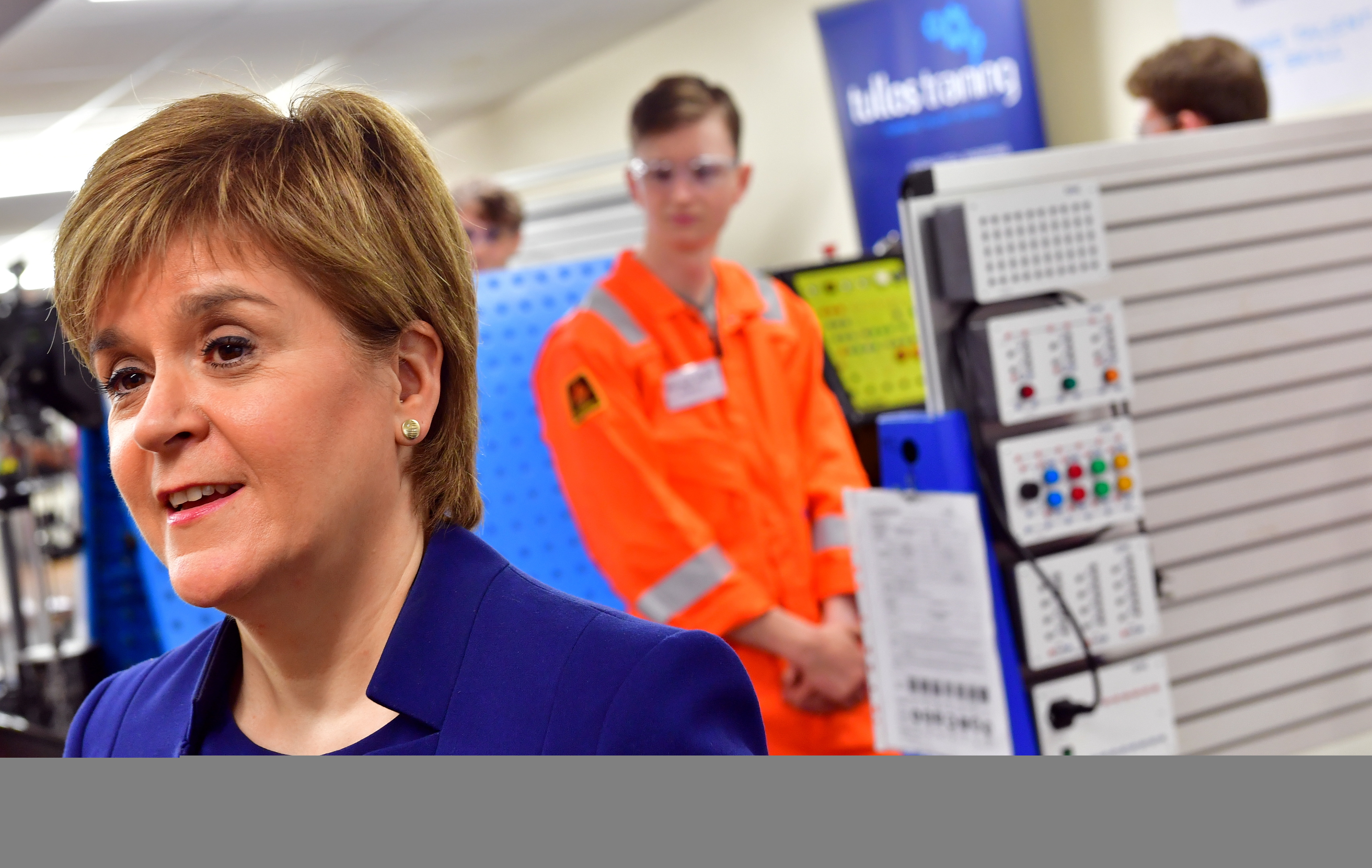 First Minister Nicola Sturgeon's visit to Tullos Training.    Picture by Kami Thomson    13-09-17