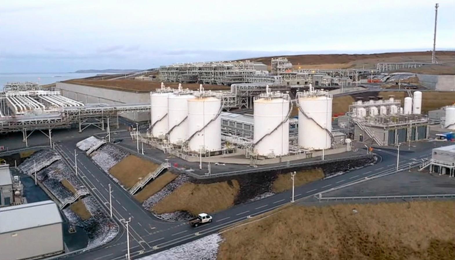The Shetland Gas Plant.