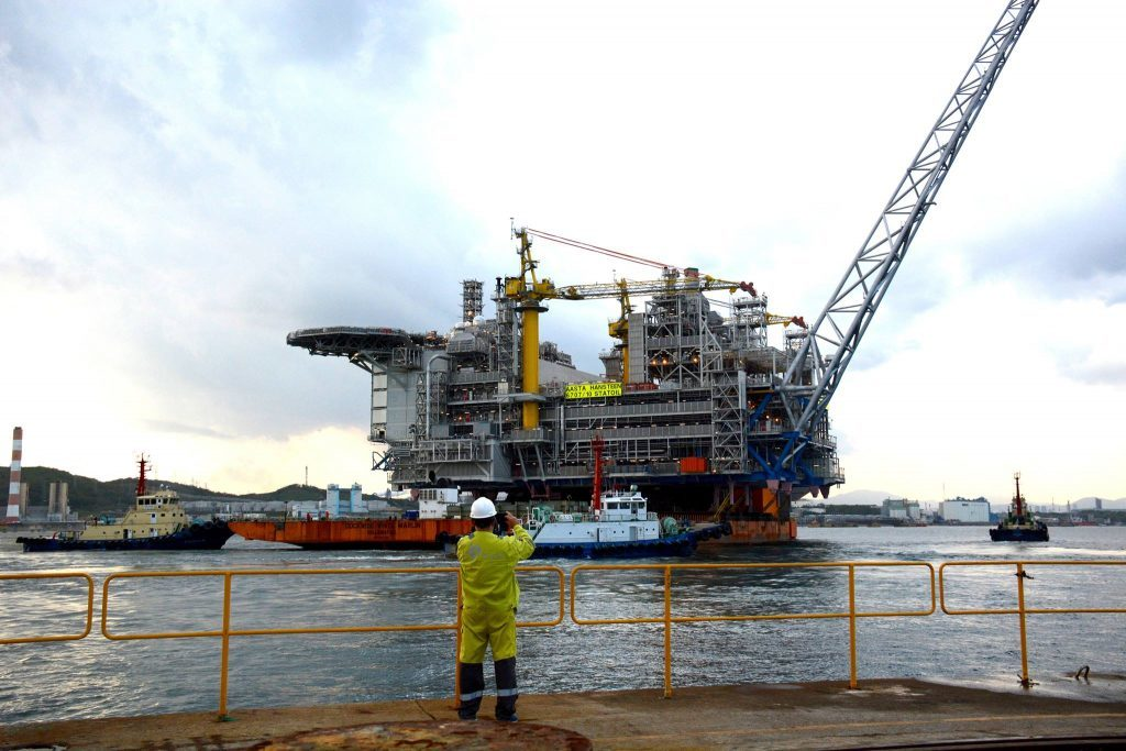 The topside for Statoil's Aasta Hansteen platform