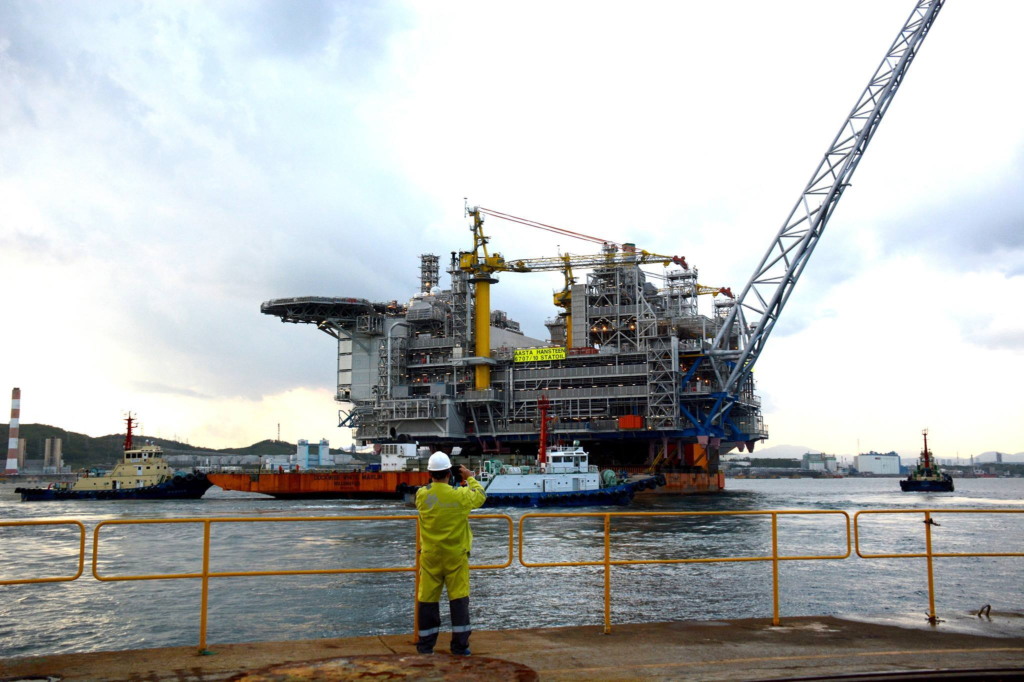 The topside for Statoil's Aasta Hansteen platform