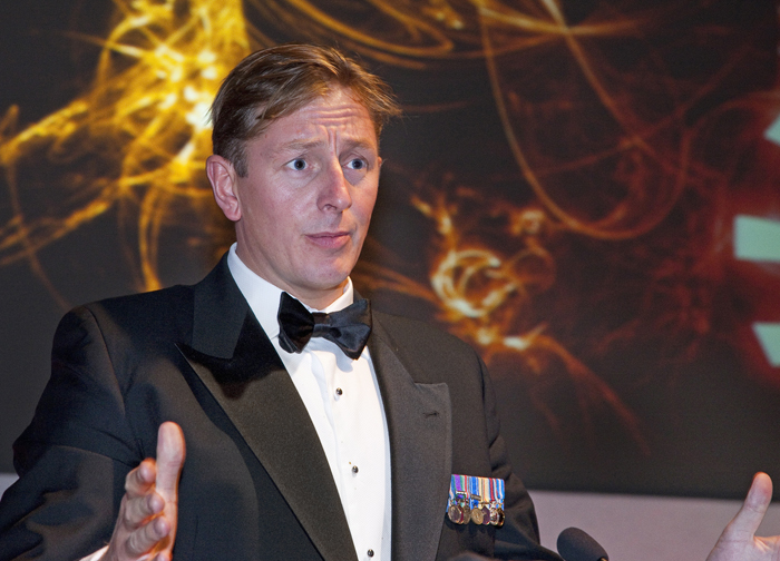 Major Chris Hunter, author and former British Army bomb disposal officer.
