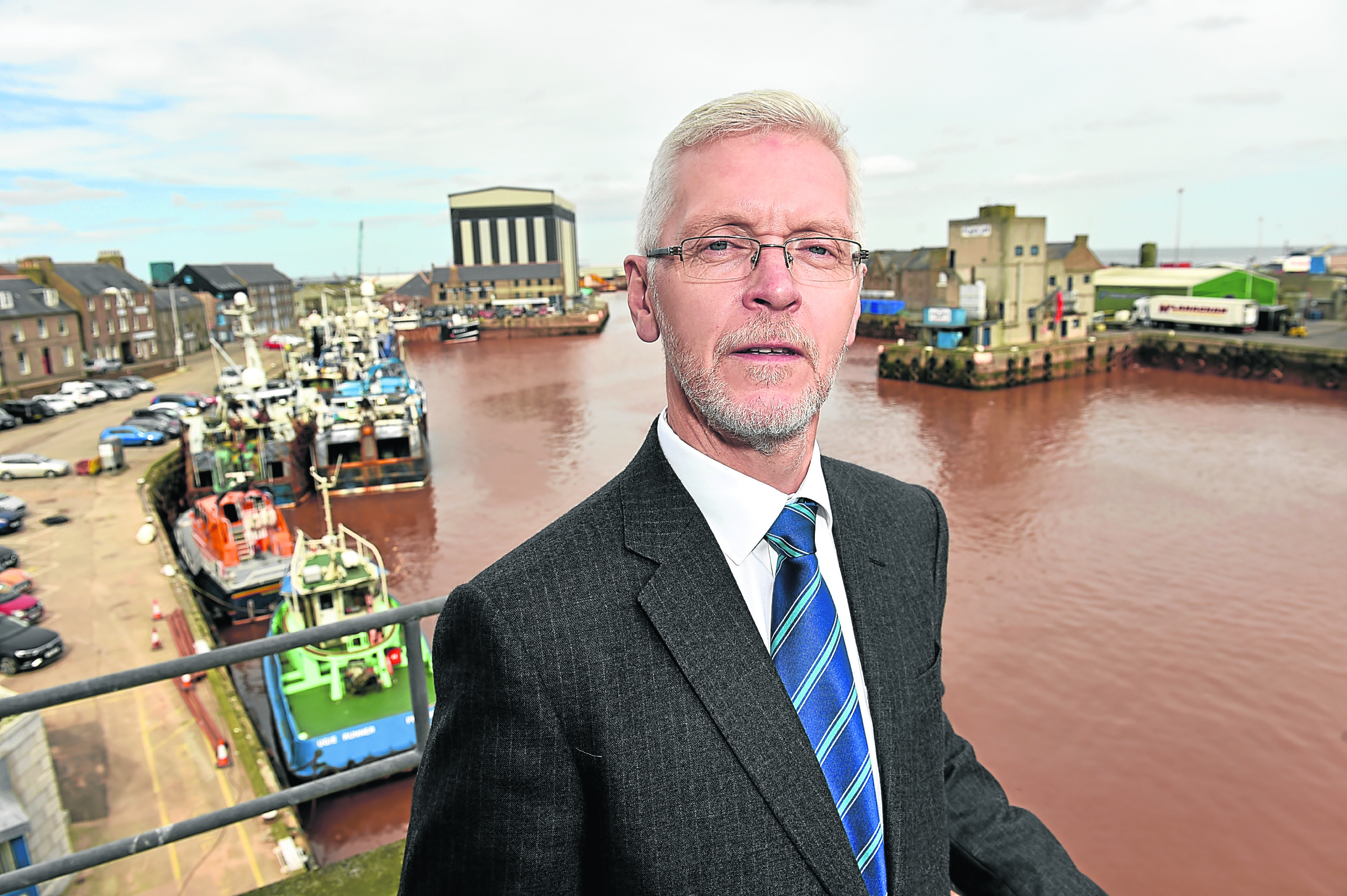 Ian Laidlaw, of Peterhead Port Authority, says the expansion will secure the industry for centuries