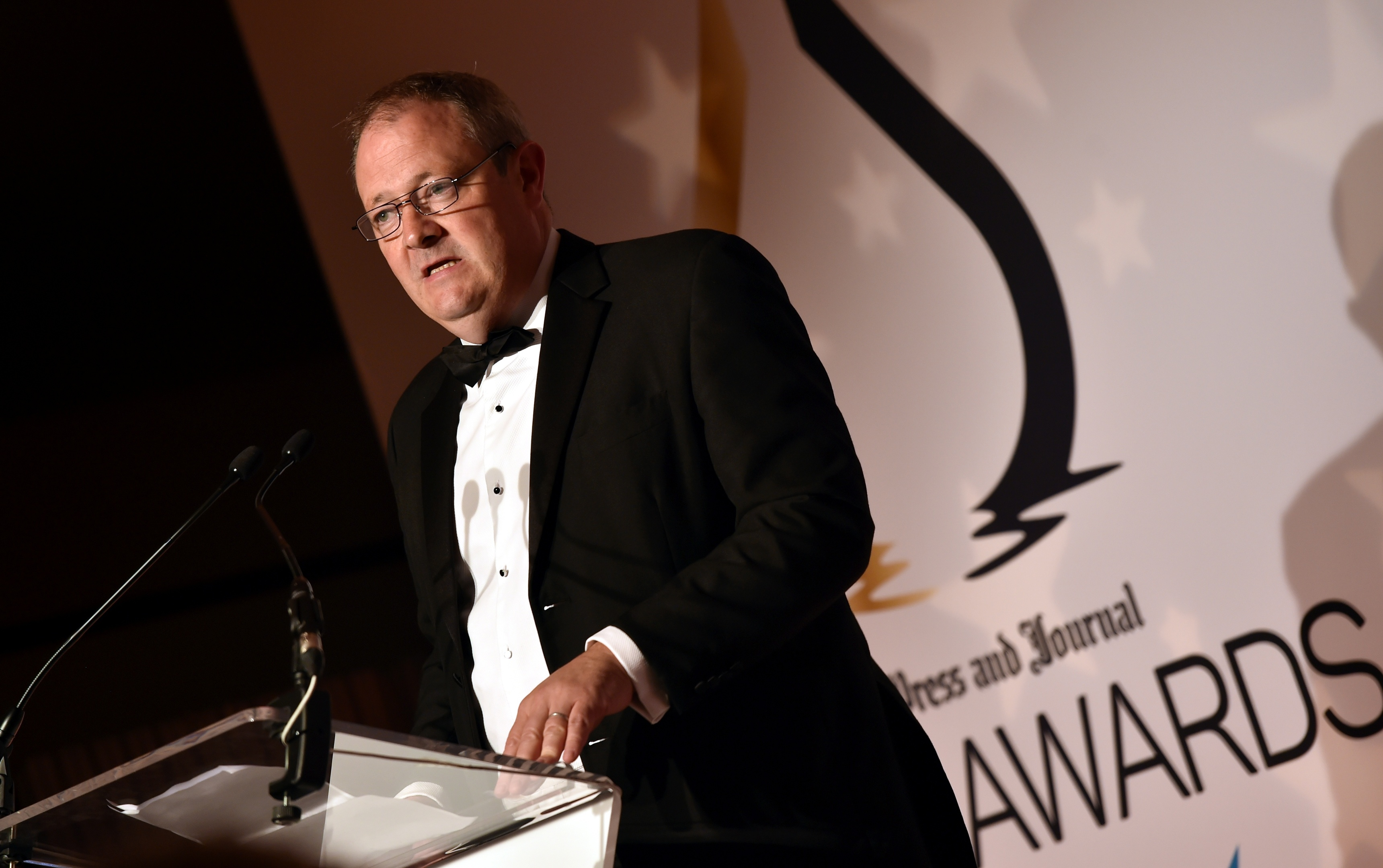 Gold awards held at the Marcliffe Hotel and Spa, Aberdeen. Press and Journal editor-in chief Richard Neville