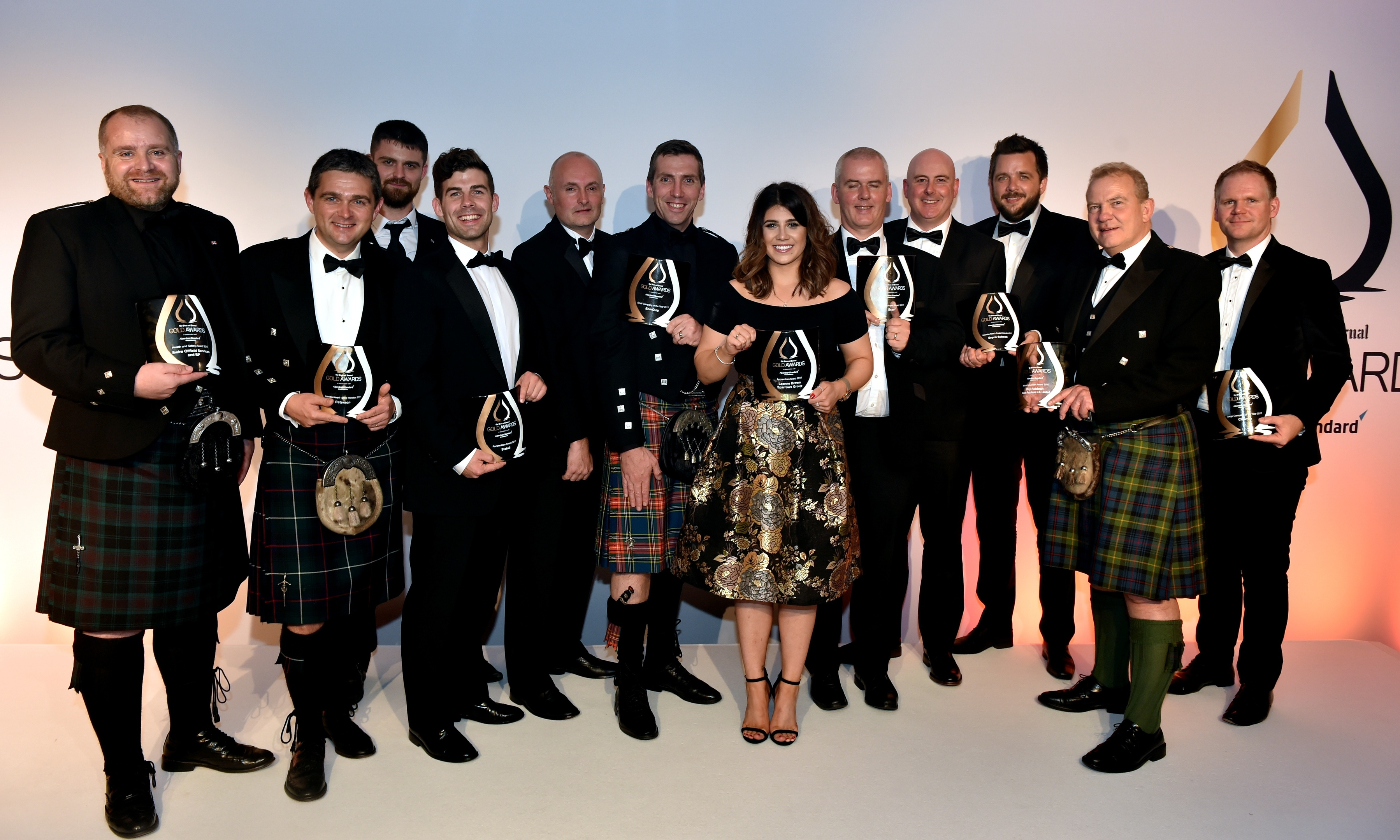Gold awards held at the Marcliffe Hotel and Spa, Aberdeen. The Gold Award Winners. Picture by COLIN RENNIE September 8, 2017.
