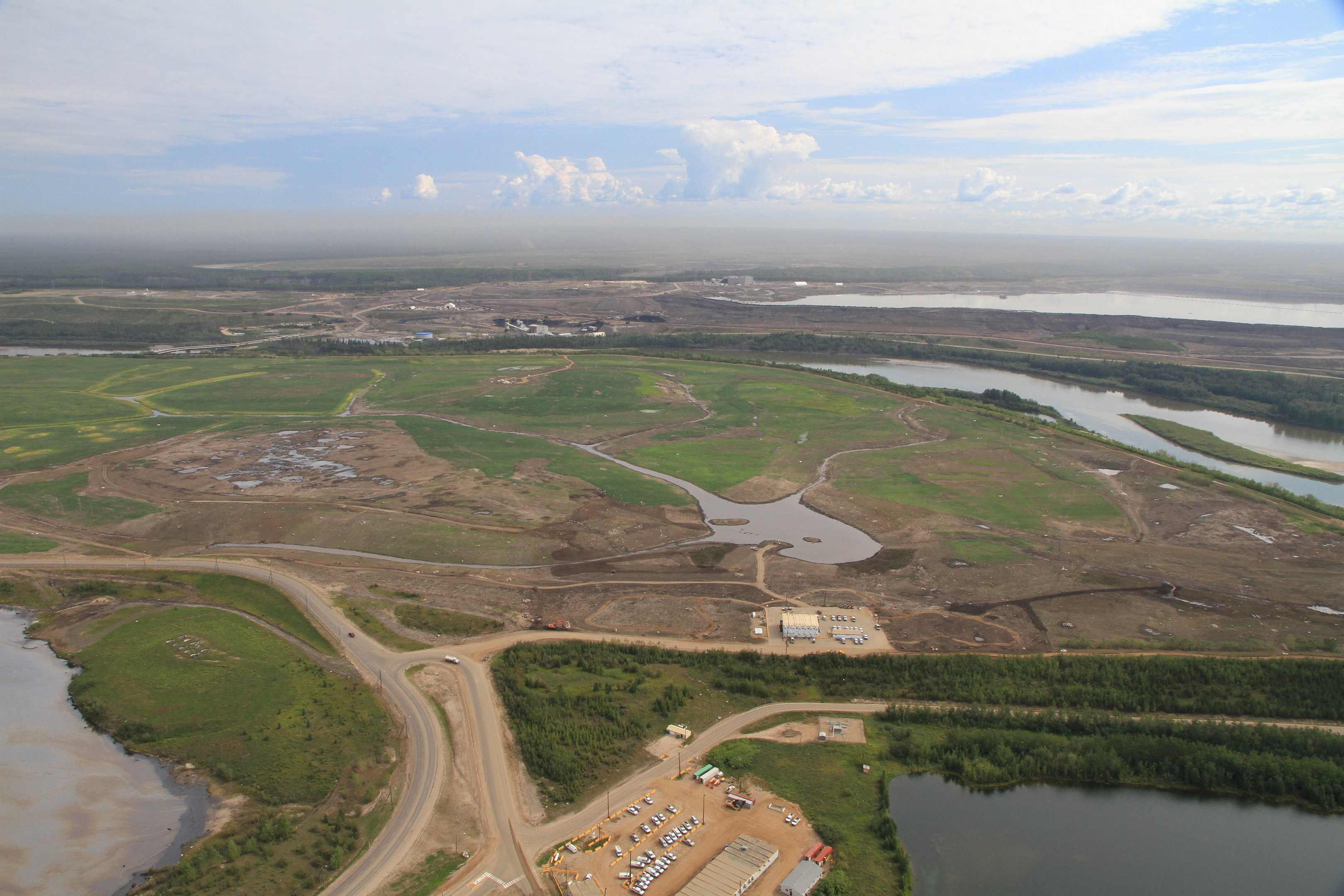 A file photo of a Suncor-operated oil sands project in  Canada.