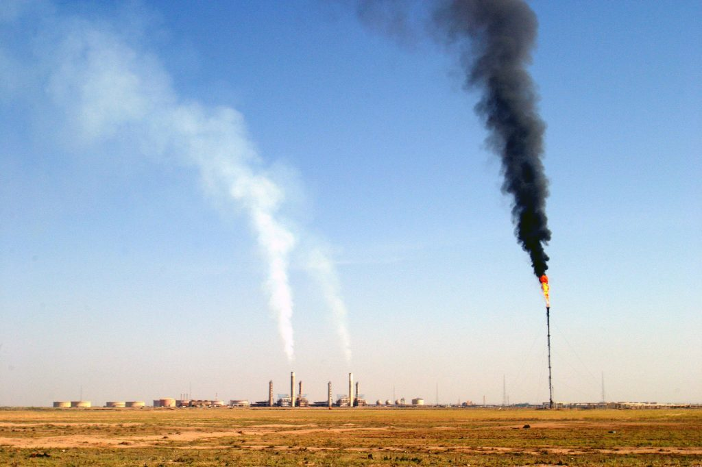 The Kirkuk Oil Company refinery that handles some of the oil production in the Kirkuk, northern Iraq region. Photographer: Staton R. Winter/Bloomberg News