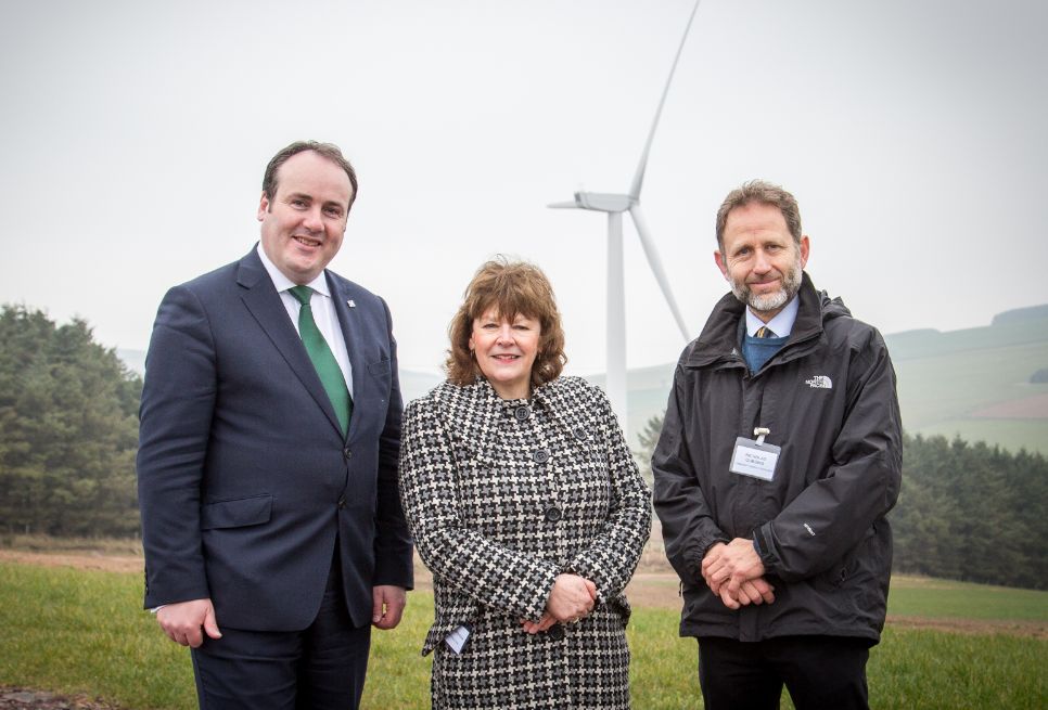 The Fisherman Three wind farm has been put forward for a brace of awards.