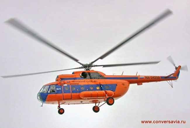An Mi 8 helicopter