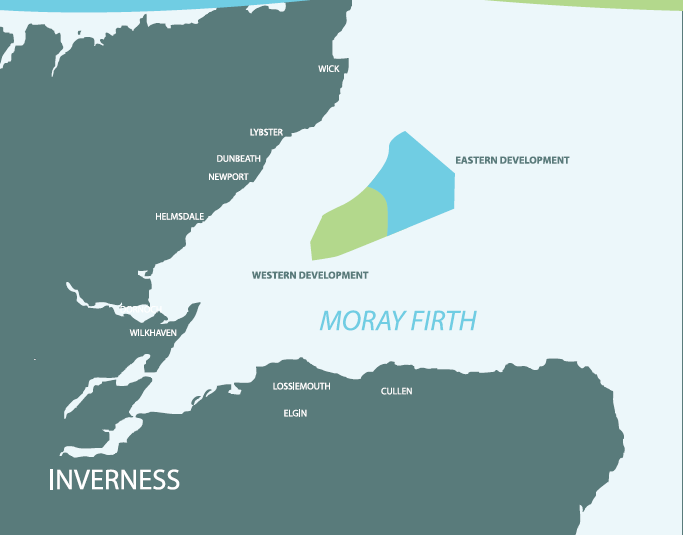 The Moray Firth wind farm developments.