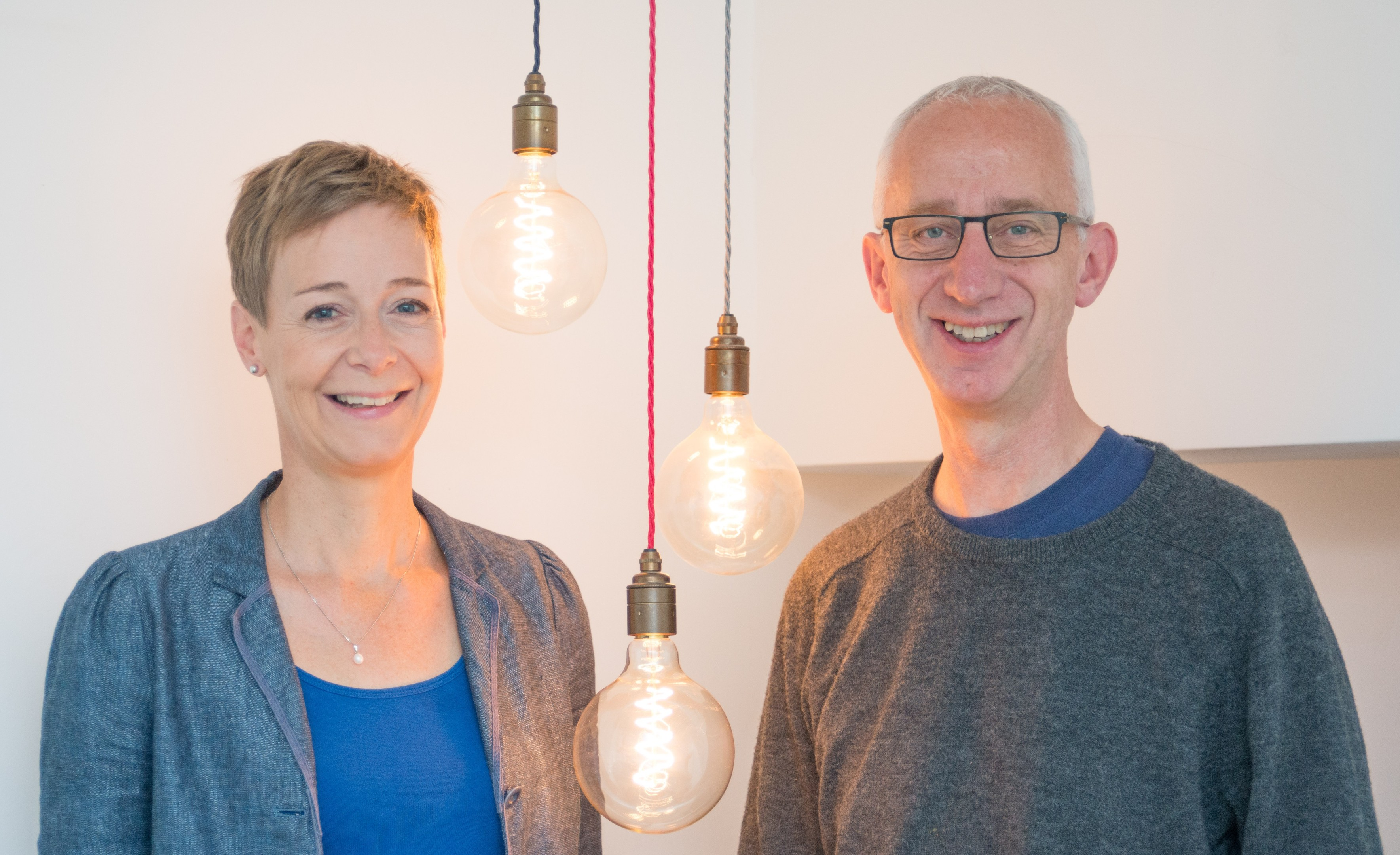 Karin Sode and David Pike of People's Energy.