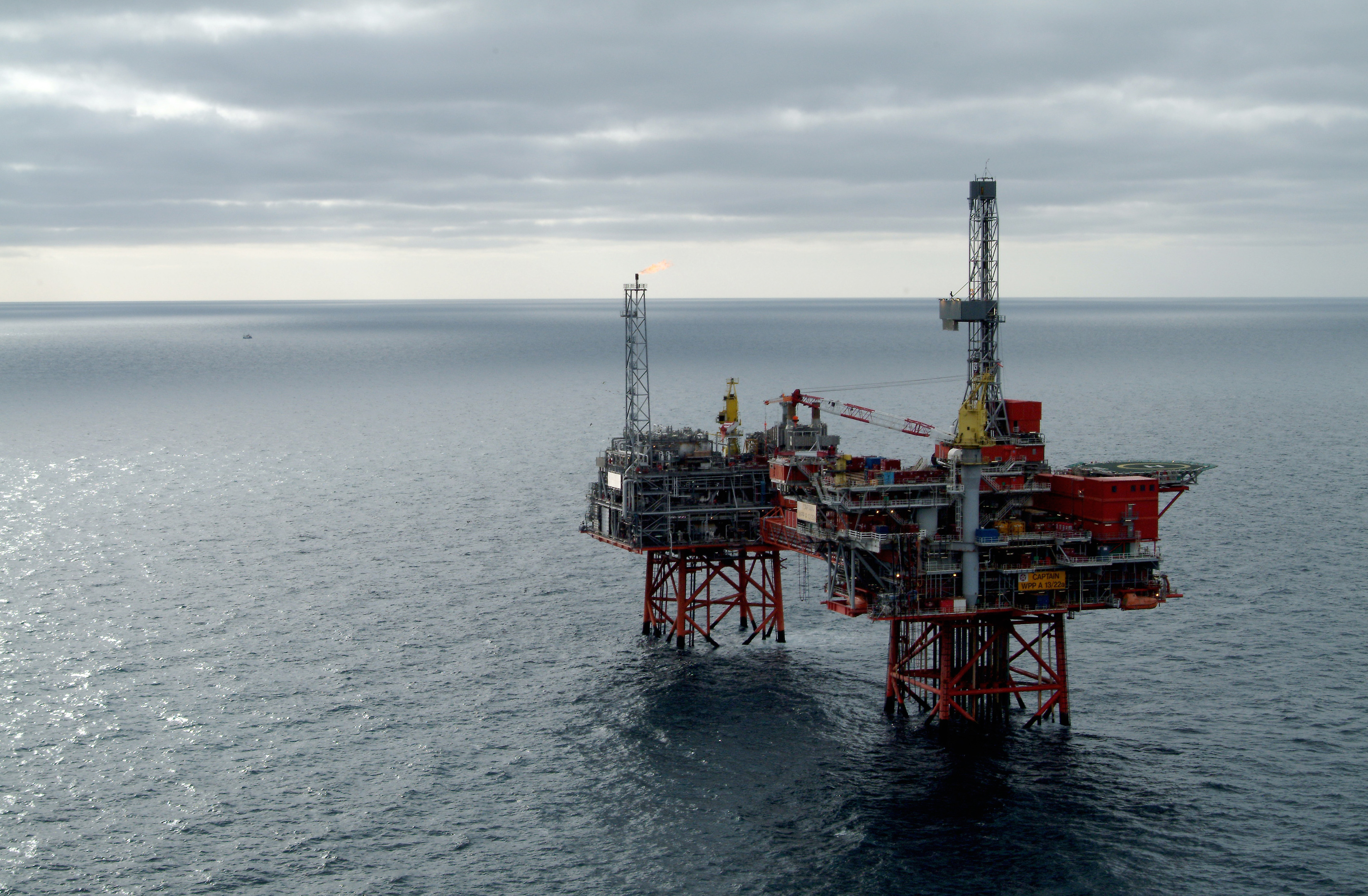 Chevron's North Sea Captain platforms