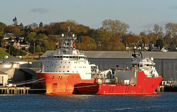 The two Go Offshore (UK) Ltd vessels at Dundee Port.