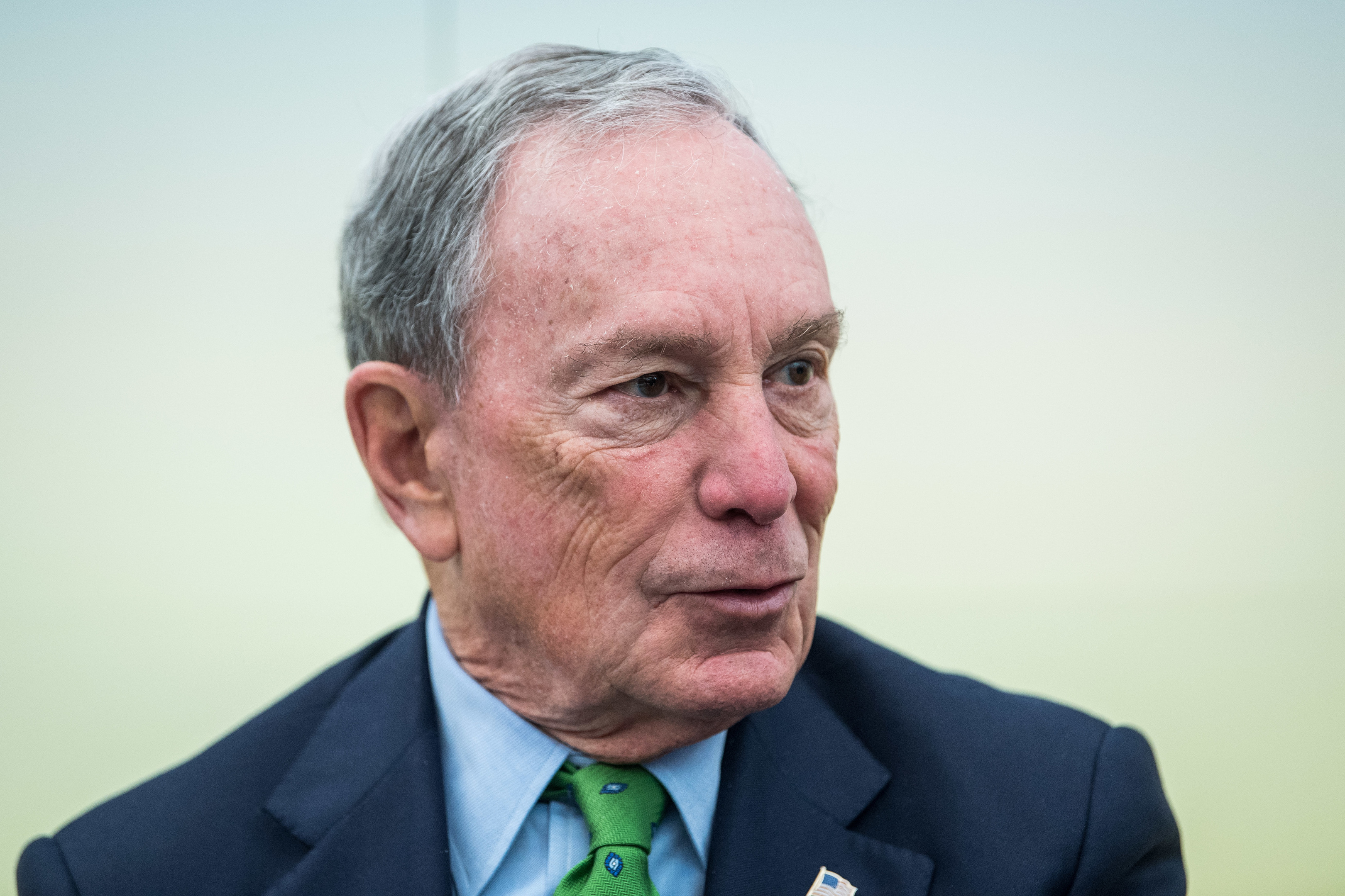 American businessman Michael Bloomberg is seen prior to a discussion at the America's Pledge launch event at the U.S.
