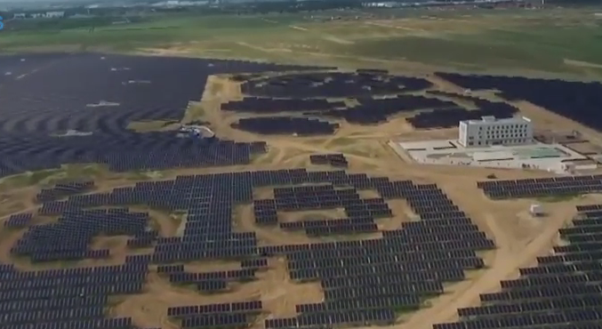 China has some huge solar developments.