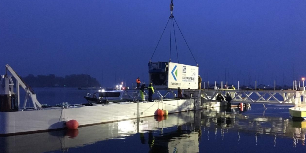 Sustainable Marine Energy (SME) has installed the PLAT-I floating tidal energy platform in Connel Sound in Scotland.