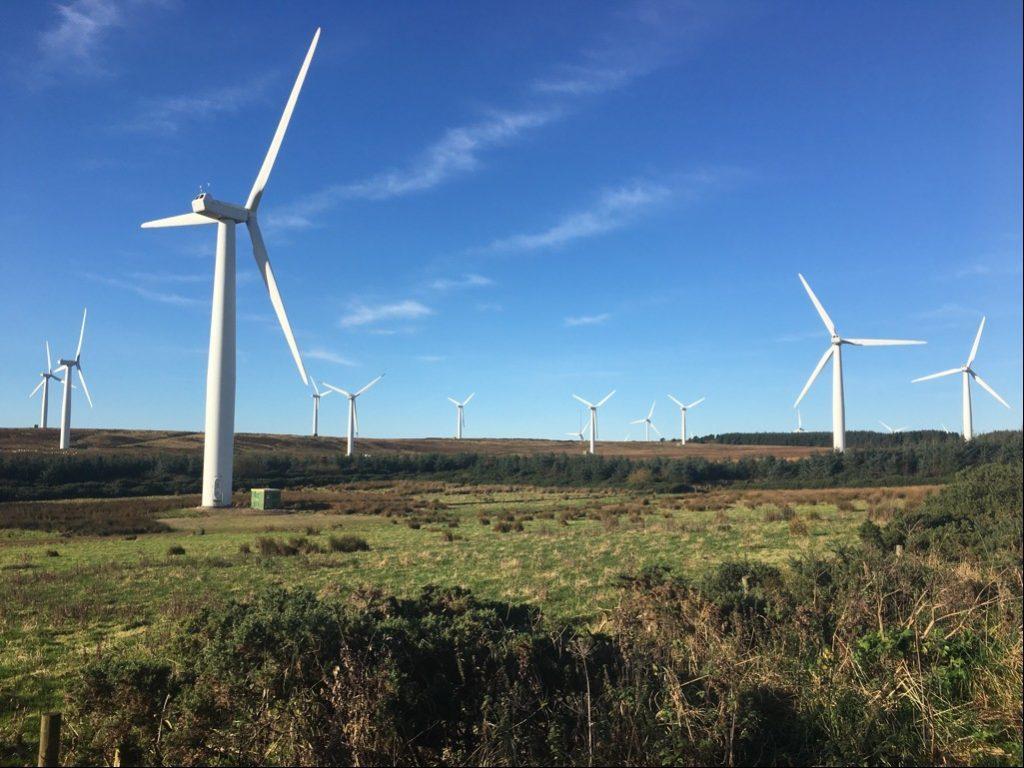The Drone Hill Wind Farm in the Scottish Borders.