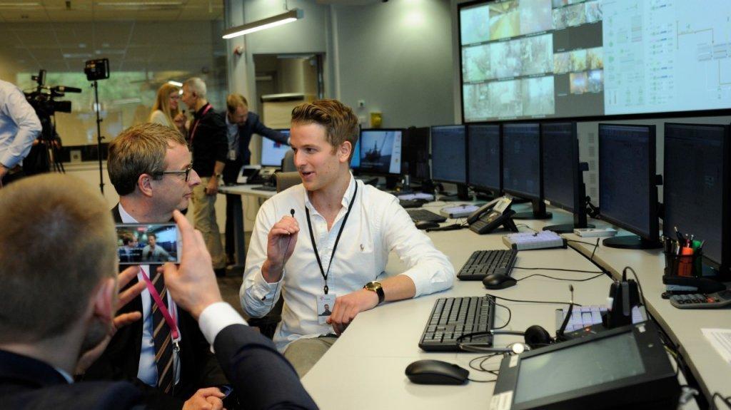 Statoil Valemon control room.