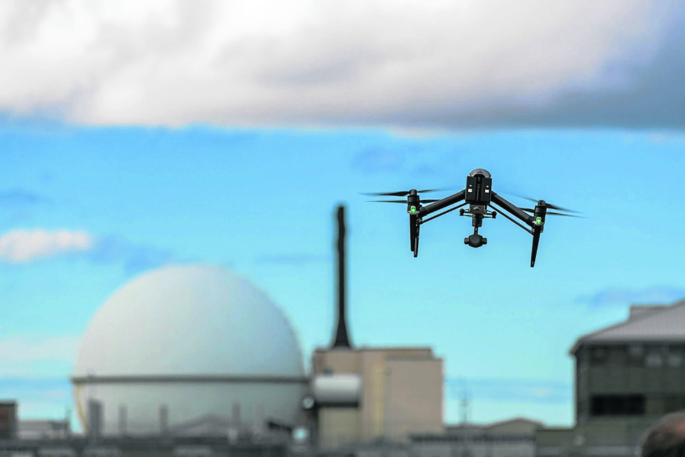 The switch to using drones means around £100,000 worth of savings to the UK taxpayer, the Dounreay operators say