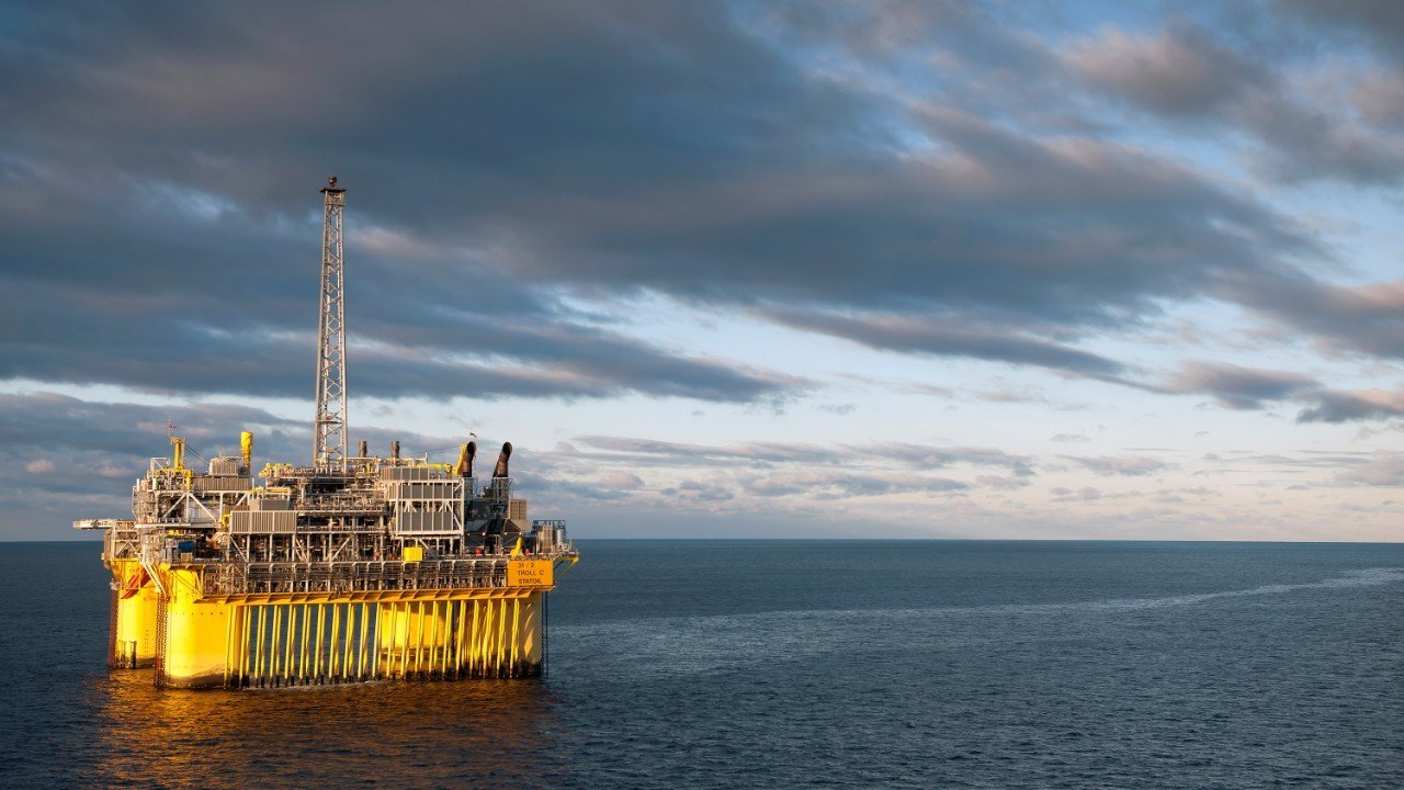 The Troll C platform in the North Sea. (Photo: Øyvind Hagen)