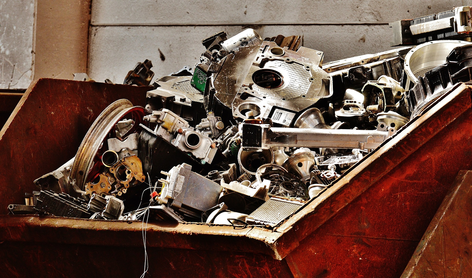 Scrap metal will be recycled in UK.