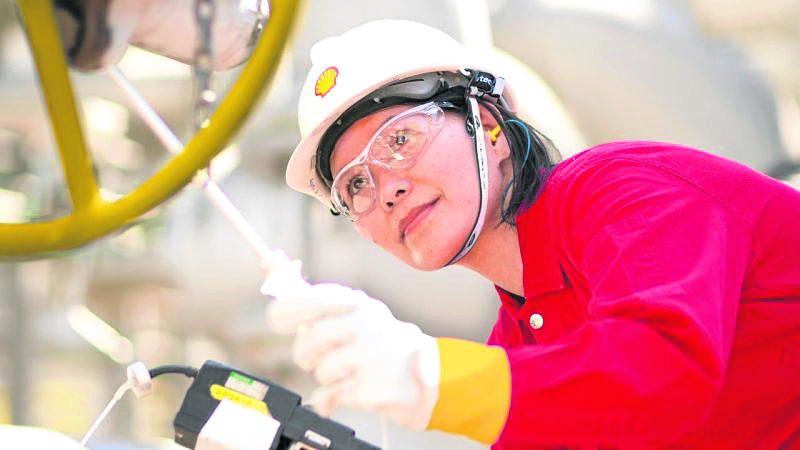 A woman engineer working for Shell represents the culture shift that is taking place in workplaces across the UK