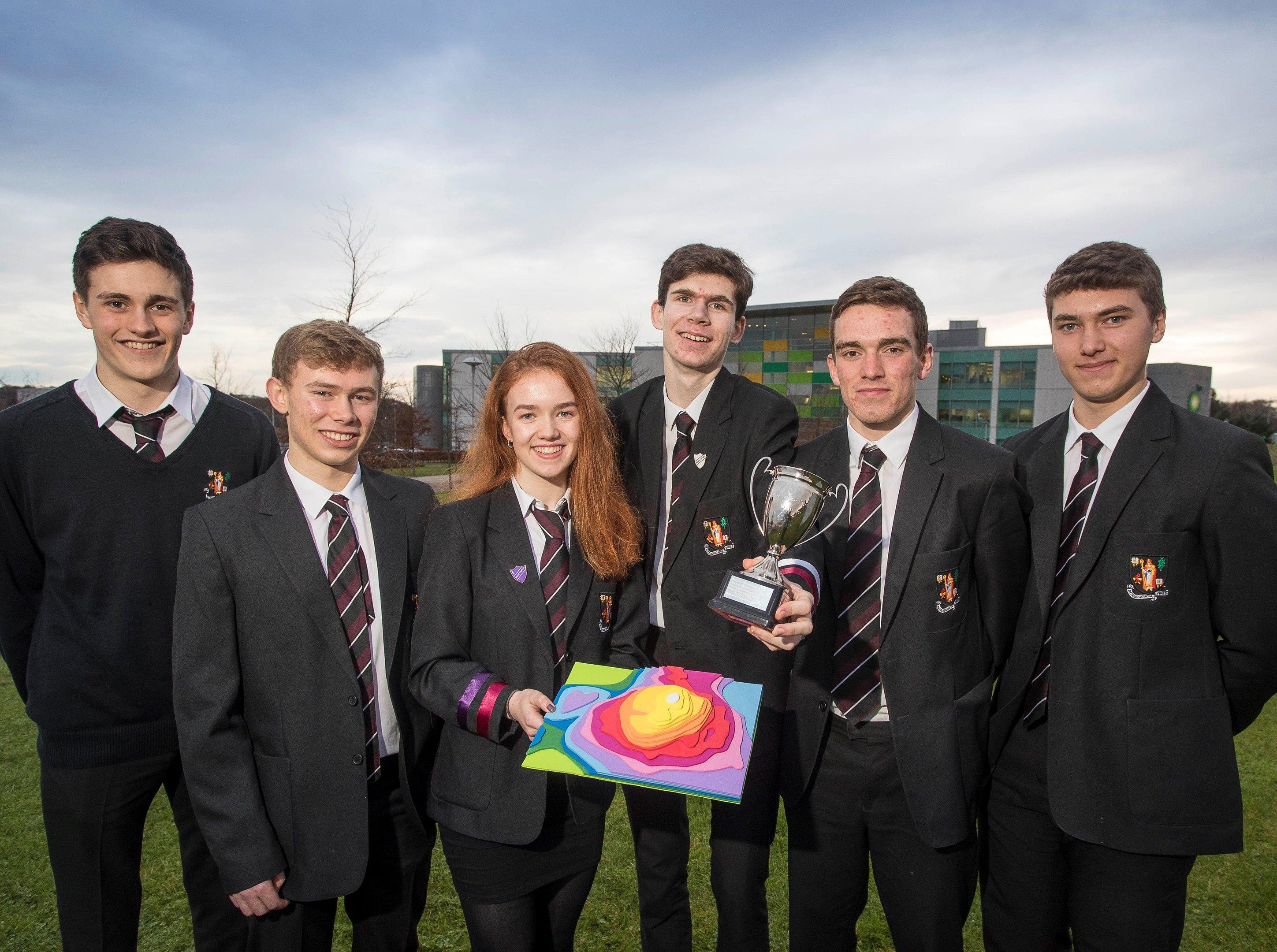 Ben Strachan (17), Daniel Birch (18), Lauren Liversidge (17), Kazio Wilowski (16), Jack Banfield (17) and Danny Skinner (16).
