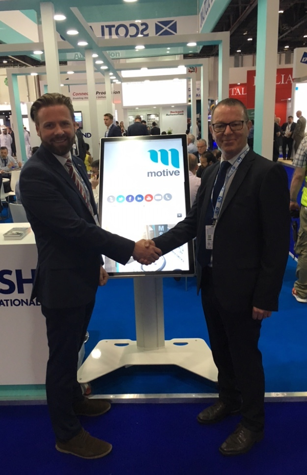 Motive Offshore Group MENA and Caspian Regional Manager, Eddie Moore (left), and Neil Henderson, CUT group business development manager