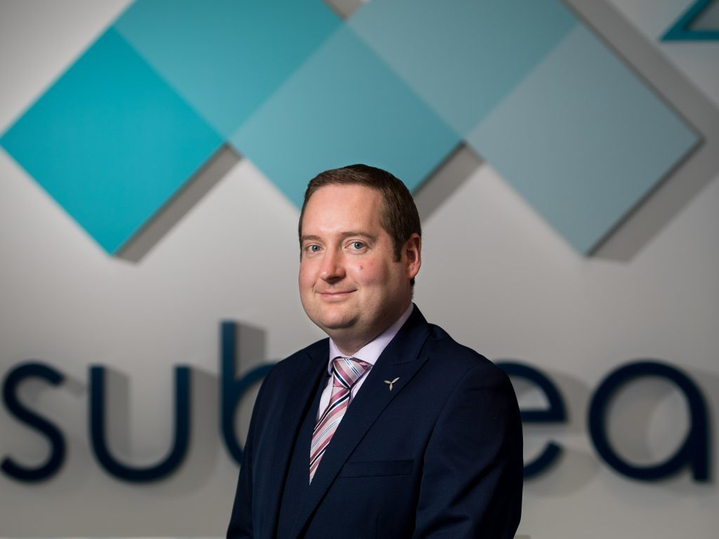 M2 Subsea's David Sinclair, business development manager in charge of renewables and decommissioning.