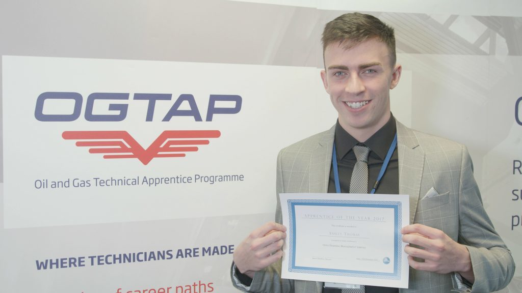 Opito's 2017 apprentice of the year, Ashley Thomas