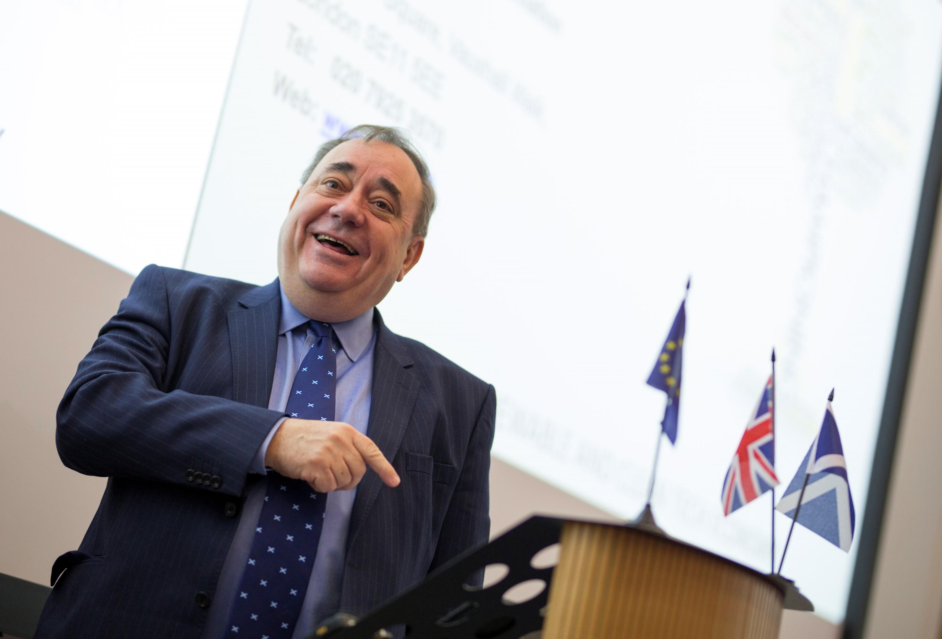 Former First Minister, Alex Salmond.