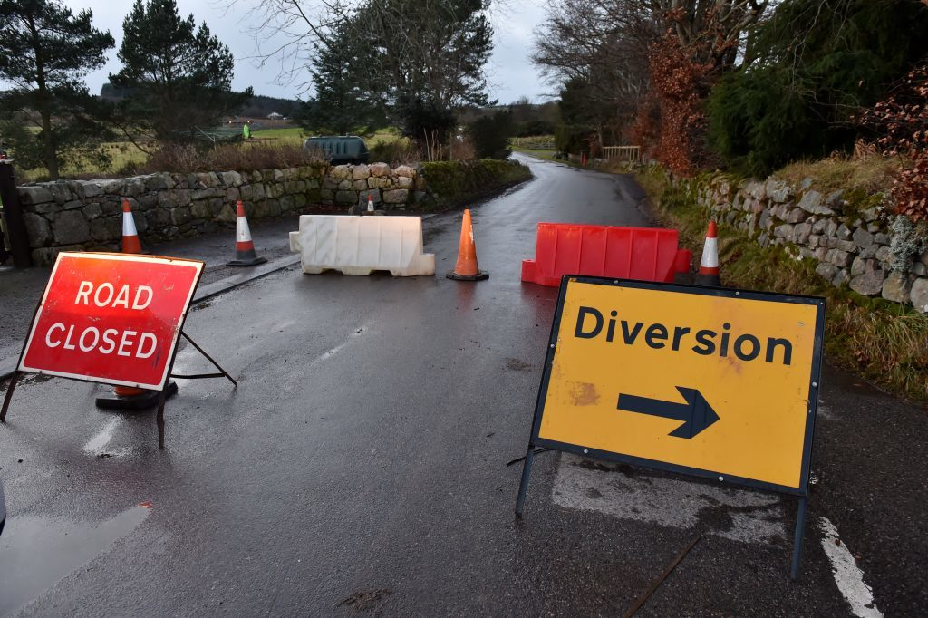 A number of residents have been evacuated from Netherley to Cookney road, Aberdeenshire, after a leak was detected at the Forties pipeline. Picture of the Netherley junction with Cookney road.