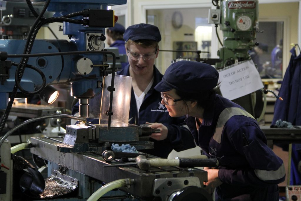 A file photo of apprentices at PEDL in Peterhead