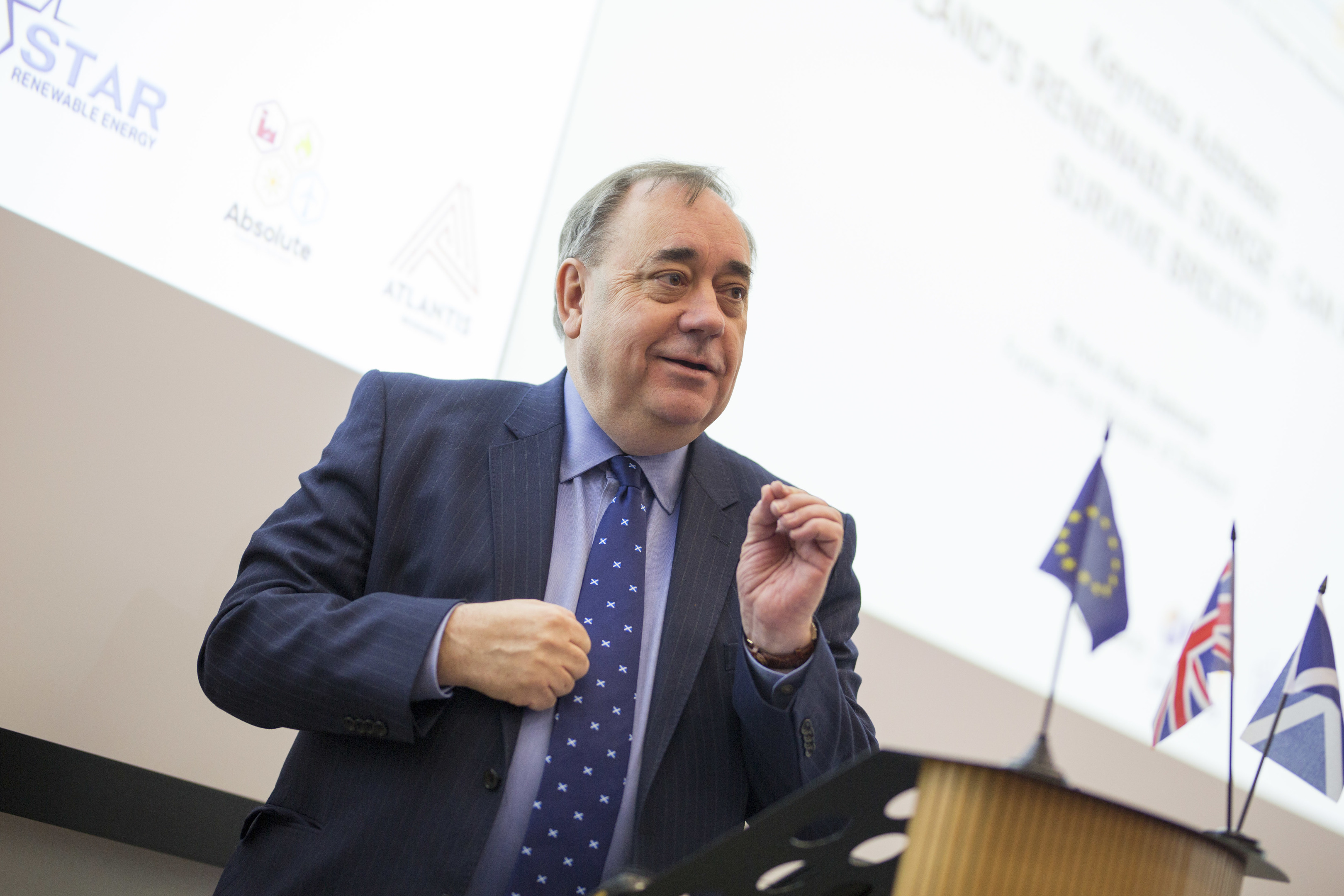 First Minister Alex Salmond. Photography by Dundee University