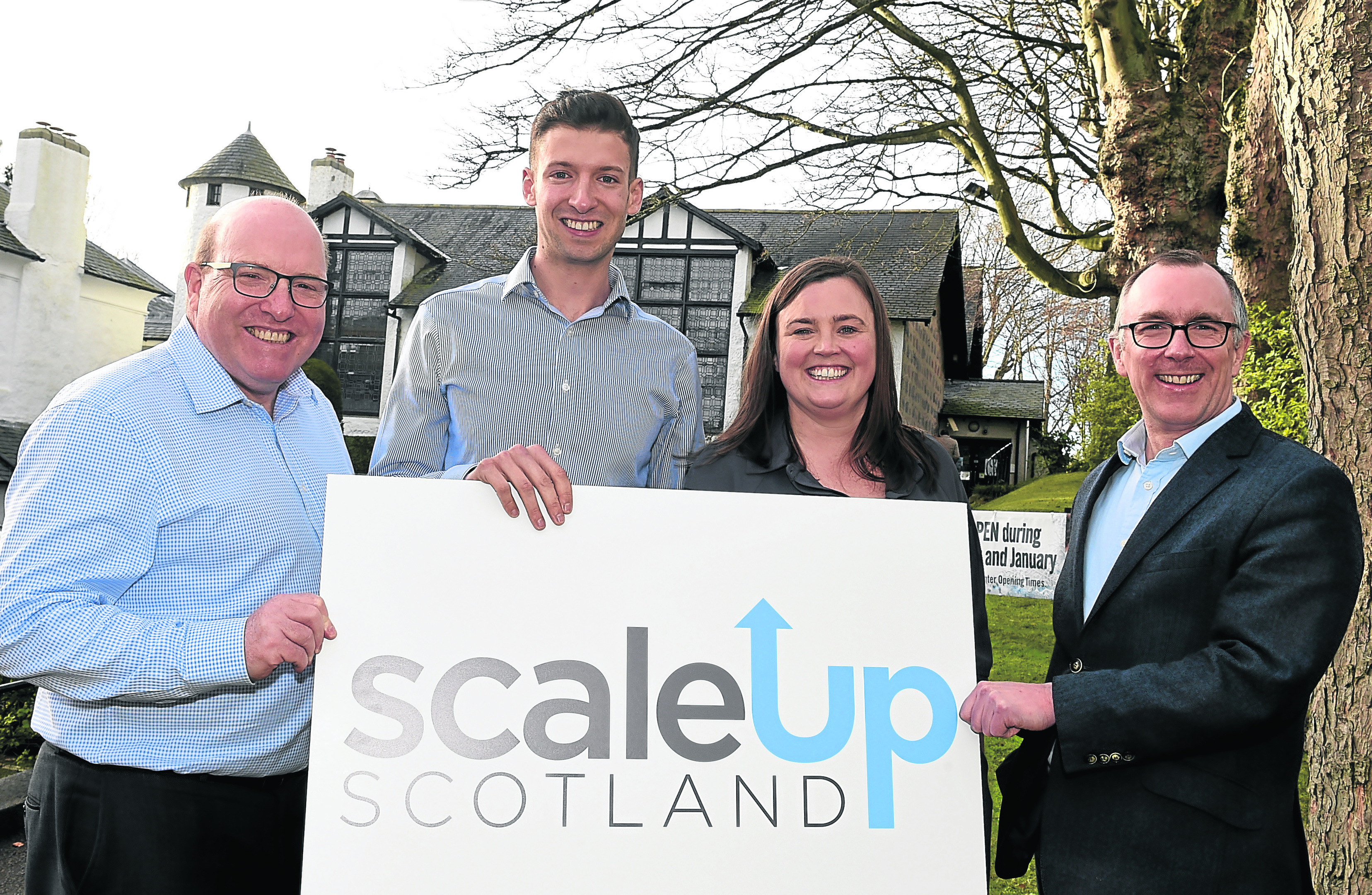 EAGER: Bob Keiller, James McIlroy, Marie Clare Tully and Sandy Kennedy launch Scale-Up Scotland. Photograph by Jim Irvine