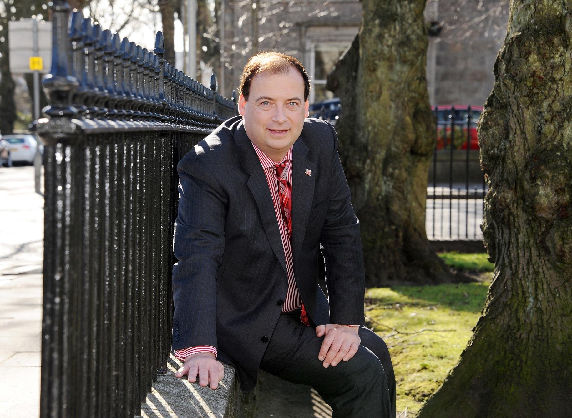 Brett Jackson of Granite PR, Aberdeen.  Pic Donald Stewart