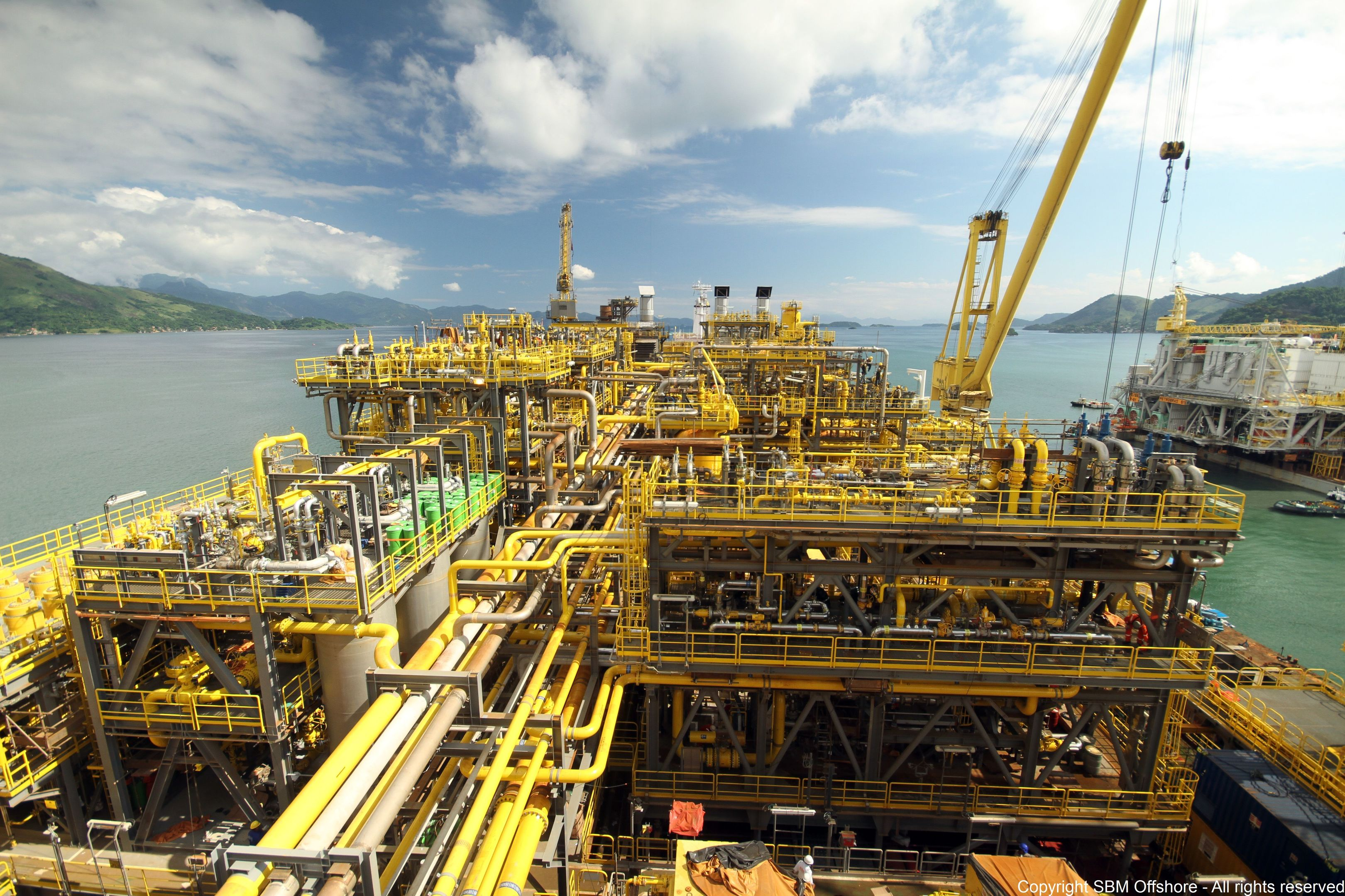 ExxonMobil's Liza field forms part of the 6billion barrel Stabroek block. Pic: SBM Offshore FPSO