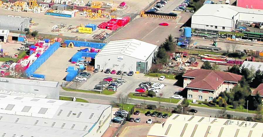 BARGAIN: The Hercules House site at Badentoy Business Park, Portlethen, is for sale at £1million  –  a 70% discount on what it was worth just four years ago