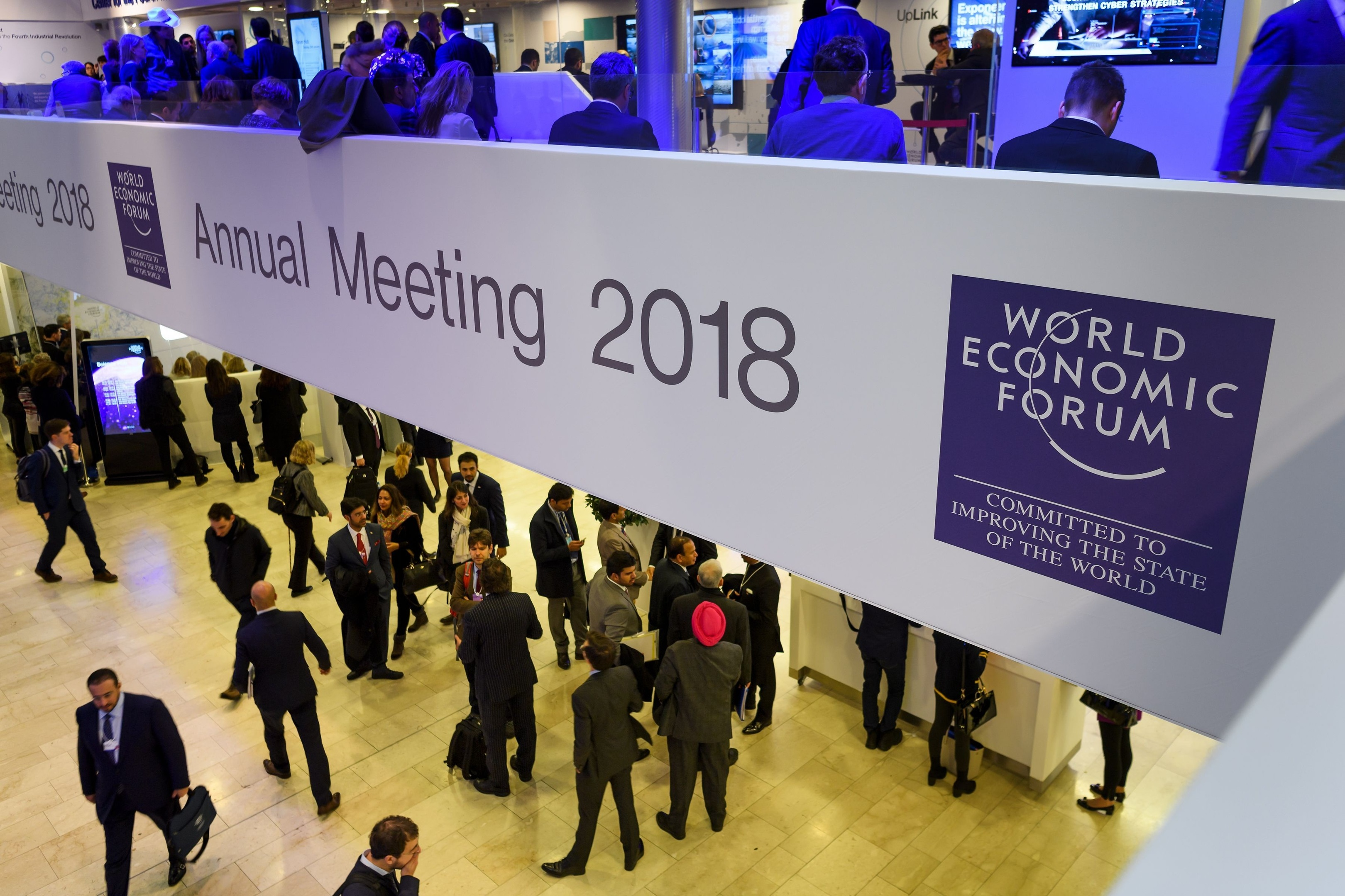 The World Economic Forum's annual meeting at Davos.