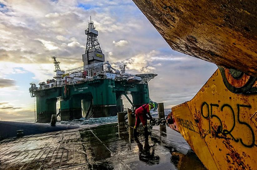 The Leiv Eiriksson semi-submersible drilling rig