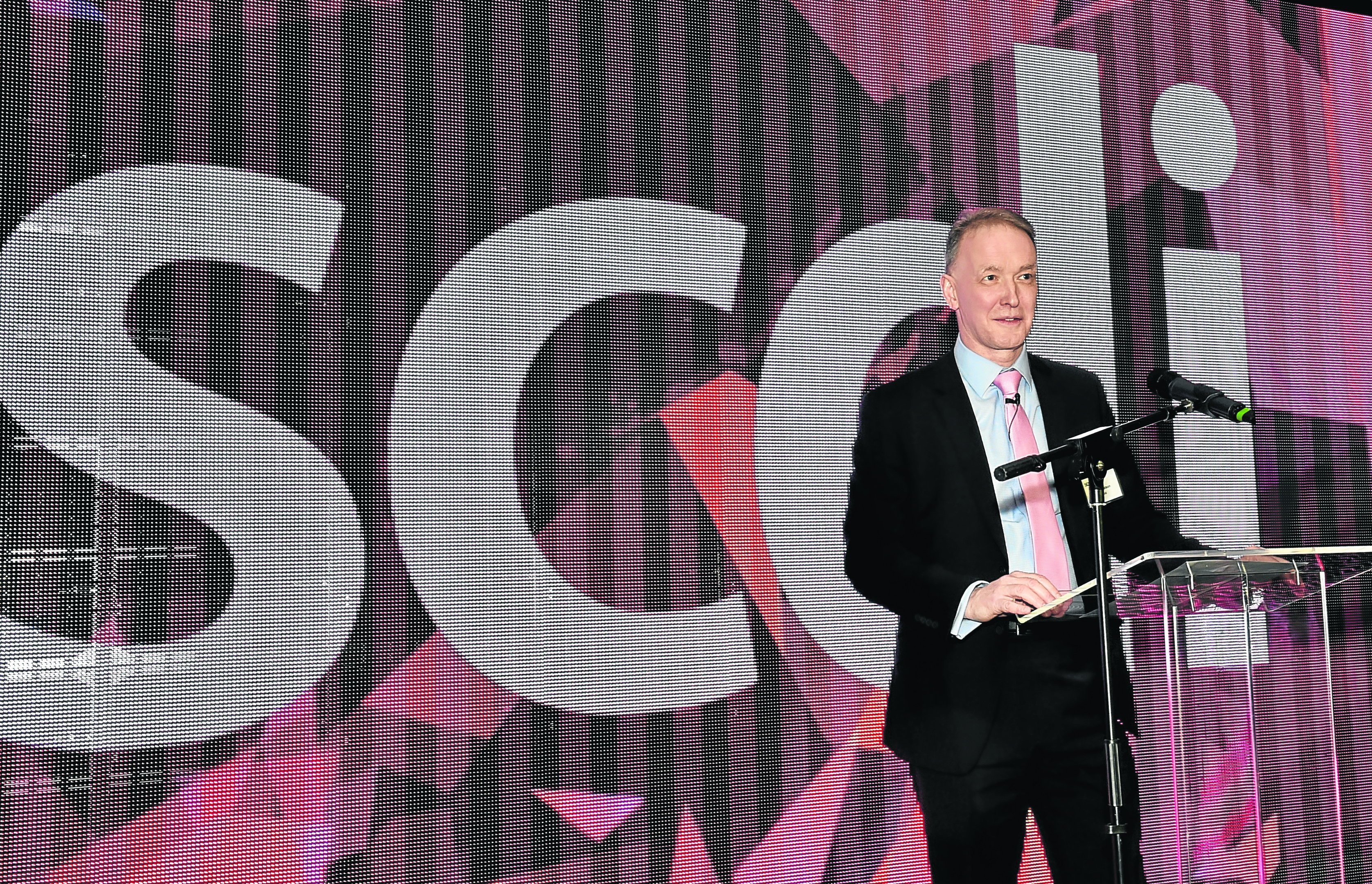 ADDRESS : Robin Watson, CEO of Wood, gives the SCDI annual lecture. Photograph by Colin Rennie