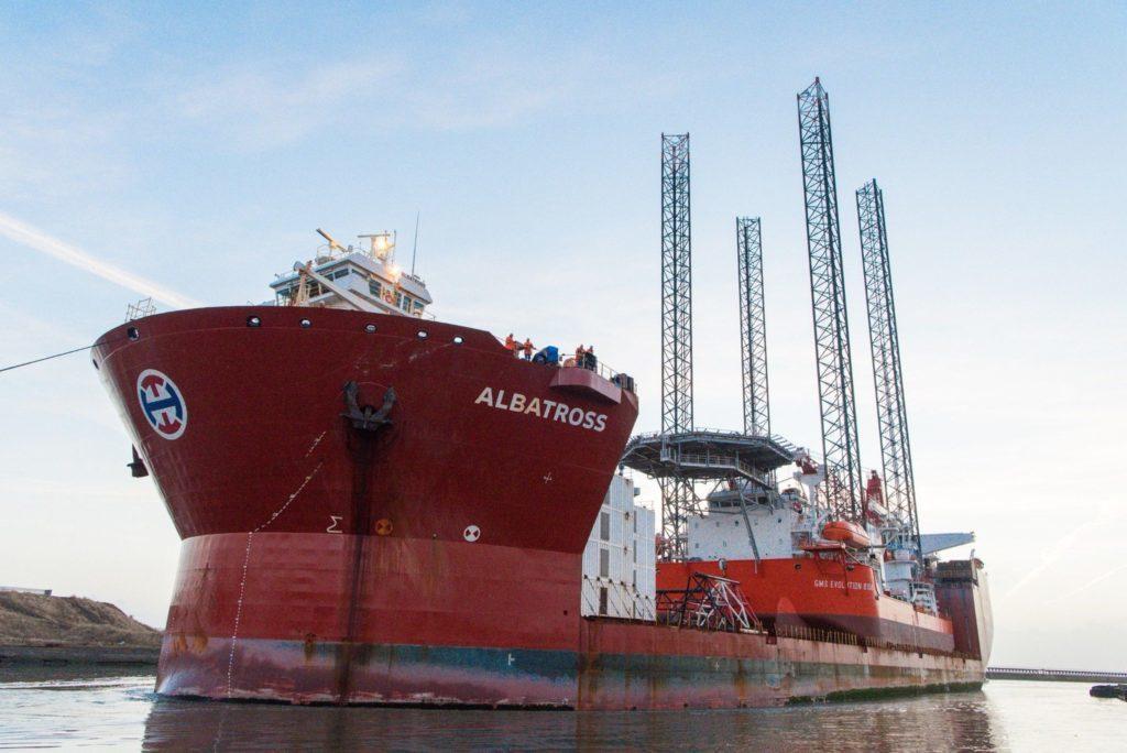 The Albatross weighs 34,700 tonnes