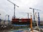 A nuclear reactor under construction