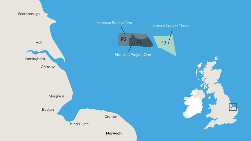 Hornsea Project Three Wind Farm.