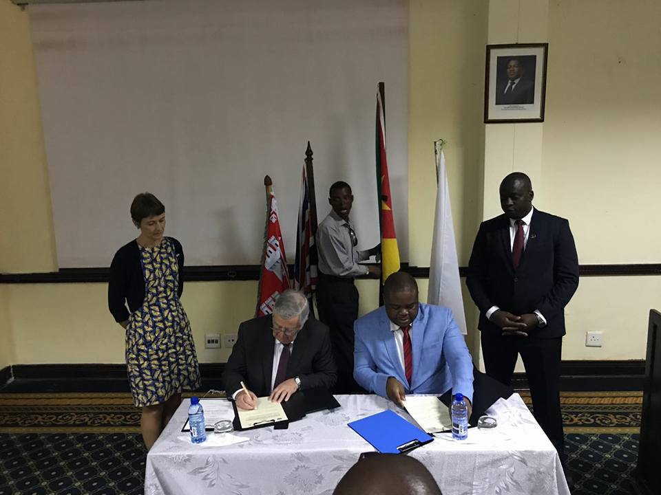 The MoU was signed by Aberdeen councillor John Reynolds and the mayor of Pemba
